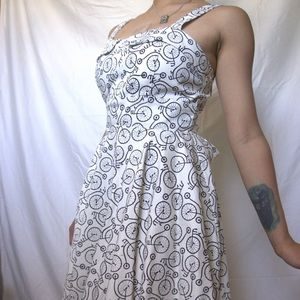 Vintage styled bicycle patterned dress